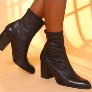 Intentionally Blank Janet Black Leather Boot